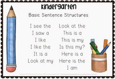 Teach Your Child to Read - Making and Writing Summer Sentences for Kindergarten vocab sentence work Making and Writing Summer Sentences for Kindergarten {voca - Give Your Child a Head Start, and.Pave the Way for a Bright, Successful Future. Kindergarten Language Arts, Kindergarten Readiness, Kindergarten Literacy, Writing Lessons, Teaching Writing, Writing Activities, Writing Process, Preschool Writing, Writing Ideas