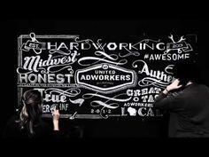 BVK - United Adworkers - Chalk Design #Chalk #Typography #Handwritten