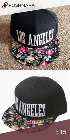 Los Angeles Floral Snapback Worn once. Like new Wet Seal Accessories Hats