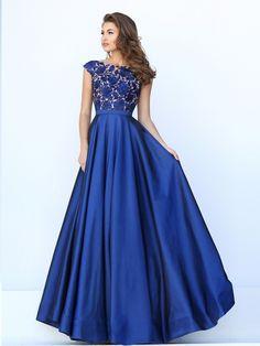 Вечернее платье Sherri Hill модель 50346, цвета  синий , длинное,