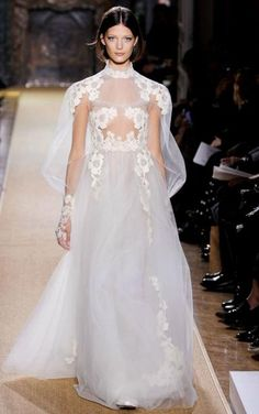 valentino bridal with floral motif #weddingdress