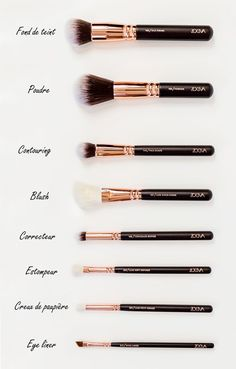 Make-up & Haar Ideen: www. Zoeva Brush Kit - Anais Cassis Himbeere - Make-up - Pinbay - Make-up & Haar Ideen: www. Makeup 101, Makeup Hacks, Makeup Tools, Skin Makeup, Makeup Inspo, Makeup Ideas, Contour Makeup, Mac Makeup, Prom Makeup