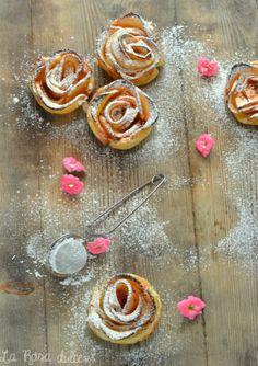 Rosas de manzana sin lactosa