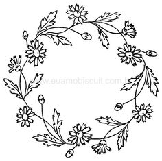 Embroidery Floral Wreath Pattern, part 3... ::ARTESANATO VIRTUAL - Tecnicas de Artesanato   Dicas para Artesanato   Passo a Passo::