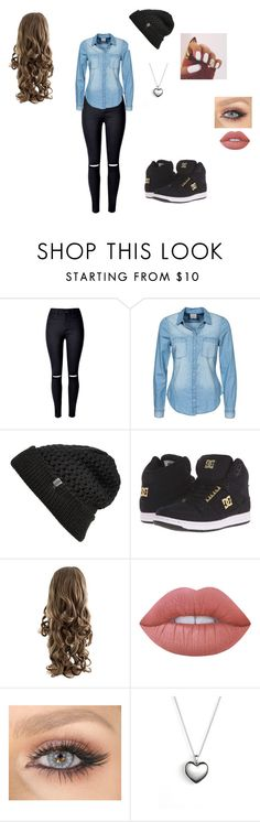 """""""Sem título #33"""" by juliaemillysoares on Polyvore featuring moda, WithChic, Vero Moda, The North Face, DC Shoes, Lime Crime e Pandora"""