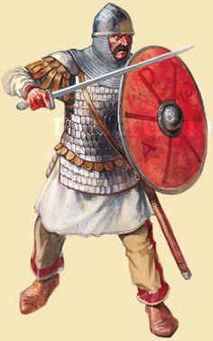 Medieval Roman foot soldier