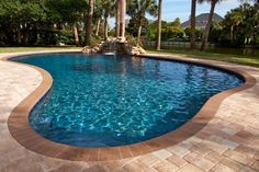 Browse our swimming pool pictures for ideas on water color. Your pool's water is the most noticeable feature in your backyard. Swimming Pool Signs, Swimming Pool Heaters, Swimming Pool Pictures, Building A Swimming Pool, Swimming Pools, Backyard Pool Designs, Small Backyard Pools, Pool Landscaping, Backyard Ideas