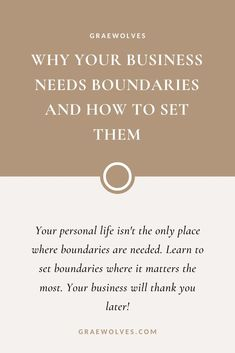 Your personal life isn't the only place that needs boundaries! Learn how to set these 7 boundaries that will not only help your business but mental health as well! Creative Business, Business Tips, Online Business, Do You Need, When You Can, All Goes Wrong, Out Of Your Mind, Forms Of Communication, Planning And Organizing