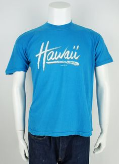 Vintage 980's Hawaii Printed T-Shirt size by foundationvintage