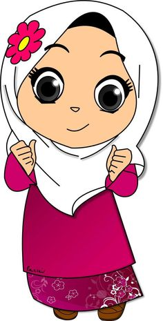 Doodle Girl Islamic Cartoon Muslim Girls Islam Anime Muslimah Eid