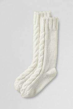 Hand-knit Slipper Sock from Lands' End