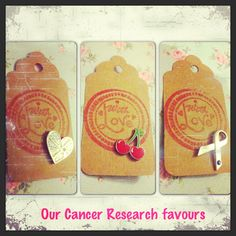 The inside of our Cancer Research Wedding favours.