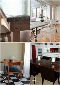 A roundup of 12 #DIY kitchen tables, islands, and cupboards you can make yourself!
