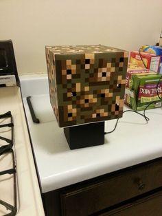 Minecraft Glowstone Cube Lamp #game #lighting #LEDs