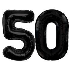 Folienballon - Zahl - Schwarz - 50