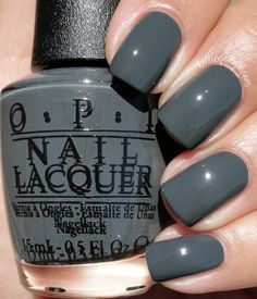 "OPI ""Liv"" in the Gray // @kelliegonzoblog"