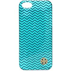 TORY BURCH Chevron Print Hard Iphone 5 & 5s Case - Turquoise ($39) ❤ liked on Polyvore featuring accessories, tech accessories, phone cases, phone, iphone cases, cases, turquoise, tory burch tech accessories, iphone cover case and iphone case