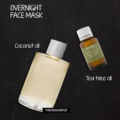 Overnight Face Masks for healthy skin - tea tree oil and coconut oil Coconut Oil Facial, Coconut Oil Lotion, Coconut Oil For Acne, Overnight Face Mask, Tea Tree Oil For Acne, Coconut Oil Pulling, Natural Skin Care, Natural Health, At Least