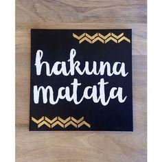 Hakuna Matata Disney Canvas Quote Wall Art Home Decor Custom Sign... ($20) ❤ liked on Polyvore featuring home, home decor, wall art, dorm decor, personalized wall art, text signs, white wall art and word canvas wall art