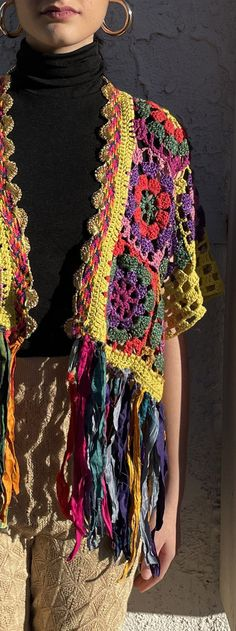 Crochet Granny, Knit Crochet, Crochet Hats, Crochet Jacket, Crochet Cardigan, Crochet Lingerie, Hippie Crochet, Crochet Fashion, Top Pattern