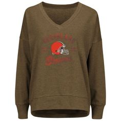 Cleveland Browns Majestic Women's Great Play V-Neck Sweatshirt - Brown - $44.99