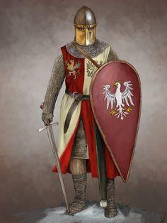 Polish Knight by JLazarusEB on DeviantArt Medieval Knight, Medieval Armor, Medieval Fantasy, Knights Hospitaller, Knights Templar, Templer, Knight Armor, Armor Concept, Fantasy Armor