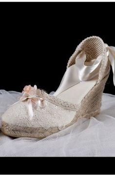 Alpargata para novias y bodas modelo Romántica