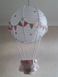 Add your own toy Hot Air Balloon Nursery light shade / Made