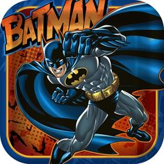 Batman Heroes and Villians Square Dinner Plates - Includes (8) square themed dinner plates. Paper; 9 wide. This is an officially licensed DC Comics product.