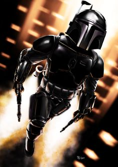 Jango Fett - Stealth Mode /by *rhymesyndicate #deviantART #StarWars #digital #art