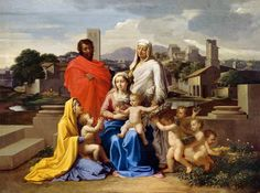 Nicolas Poussin (1594-1665): The Holy Family with Saints Anne, Elizabeth and John, called The Virgin with ten figures., 1649, National Gallery of Ireland, Dublin, Photo © National Gallery of Ireland