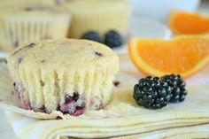 Blackberry Yogurt Muffins