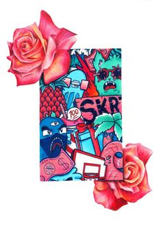 Image of Red Roses Doodle (Limited Edition, Signed & Embossed)