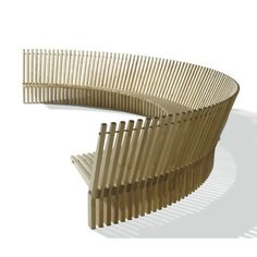 Per Borre, 1111 Astral Curved Bench, for Fredericia Furniture, 1979 {$32,700+, depending on wood type}
