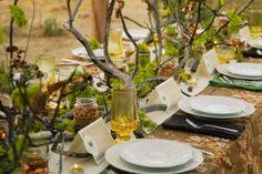 I love this earthy and kinda wild/overgrown table setting