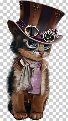 This PNG image was uploaded on January am by user: and is about Animal, Black Cat, Carnivoran, Cat, Dog Breed. Steampunk Cat, Steampunk House, Kitten Images, Cat Clipart, Hello Kitty Pictures, Image Cat, Valentines Art, Halloween Cat, Cat Tattoo