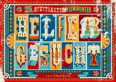 Berlin-based studio Apfel Zet designed this poster series for Stuttgarter Filmwinter, a short and experimental film festival.