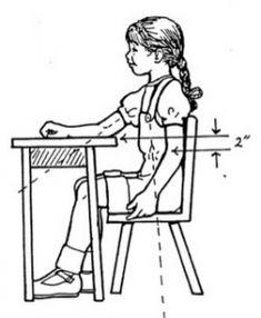The Ergonomics of a Child& Work Space - Pinned by & Please visit for all (hundreds of) our pediatric therapy pins Pediatric Occupational Therapy, Pediatric Ot, Ot Therapy, Physical Therapy, Therapy Ideas, Gross Motor Activities, Therapy Activities, Handwriting Activities, School Ot