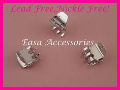 "20PCS Silver Finish 2.35/""double bars metal hair barrettes,nickle free,lead free"