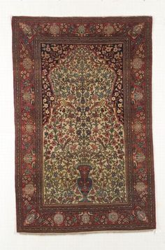 Isphahan Prayer Rug, Central Persia, second quarter 20th century, 7 ft. 2 in. x 4 ft. 9 in.   | Skinner Auctioneers Sale 2304