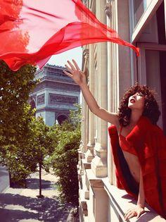 Liu Wen in Chanel by Camilla Åkrans