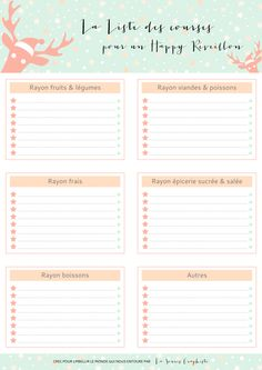 ma liste de courses imprimer organizations bullet journals and bullet. Black Bedroom Furniture Sets. Home Design Ideas