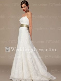 Sweetheart Strapless Lace Wedding Dress with Sash BC475 I have literally been looking for this dress for a year.