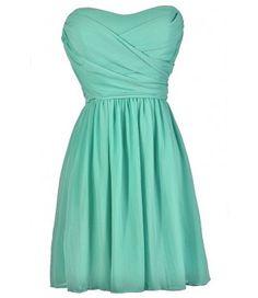 Cute Mint Dress, Mint Strapless Dress, Mint Bridesmaid Dress, Mint Party Dress, Mint Cocktail Dress, Mint Summer Dress