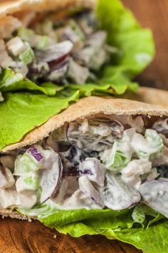 Clean Eating Chicken Salad - a delicious healthy chicken salad recipe