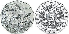 monedas de Austria 2017