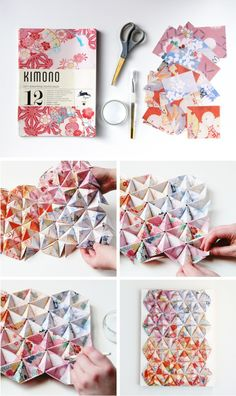 This DIY 3-D Origami Wall Art is absolutely stunning! It's the perfect addition to a modern bedroom or living room.