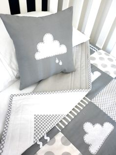 Little Cloud Crib Quilt Baby Boy or Baby girl by AlphabetMonkey, $185.00