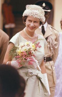 November 1961 Queen Elizabeth II during her visit to Sierra Leone