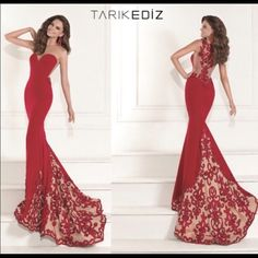Tarik Ediz Couture Dress 2015 Tarik Ediz Couture 2015 dress! Only worn for a few hours and in perfect condition! I got a Size 10 for extra length but altered the dress to be fitted. ☺️ Tarik Ediz Dresses